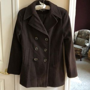 Kenneth Cole Reaction Chocolate Brown Pea Coat